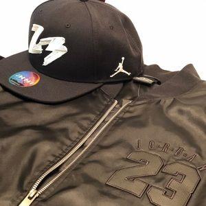 47269e706ef Air Jordan Jackets   Coats - NEW Nike Air Jordan 6 Bomber Jacket and  SnapBack